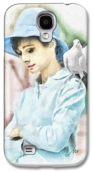 Girl Galaxy S4 Cases - Just Audrey Galaxy S4 Case by Mo T