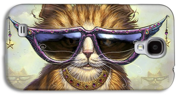 Cats Digital Art Galaxy S4 Cases - Just Be Galaxy S4 Case by Jeff Haynie