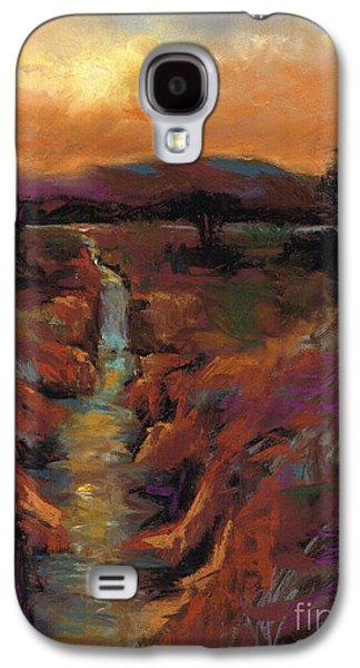 Abstract Landscape Pastels Galaxy S4 Cases - Just Before Sunset Galaxy S4 Case by Frances Marino