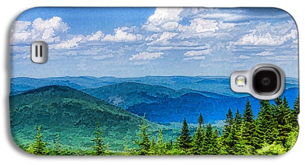 Turbulent Skies Digital Art Galaxy S4 Cases - Just Breathe Deeply - Impressions of Mountains Galaxy S4 Case by Georgia Mizuleva