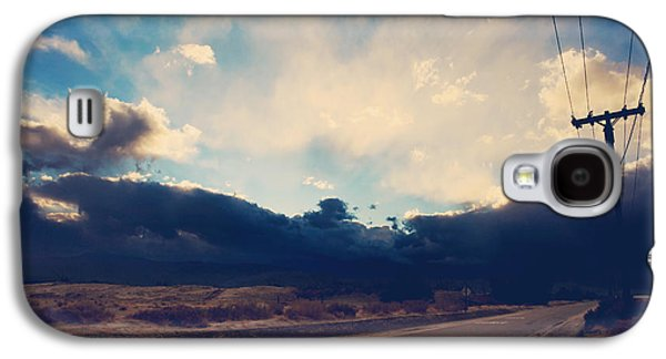 Yellow Line Galaxy S4 Cases - Just Down the Road Galaxy S4 Case by Laurie Search
