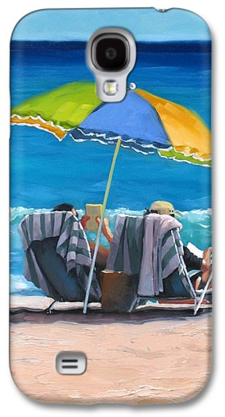 Beach Chair Galaxy S4 Cases - Just Leave a Message IV Galaxy S4 Case by Laura Lee Zanghetti