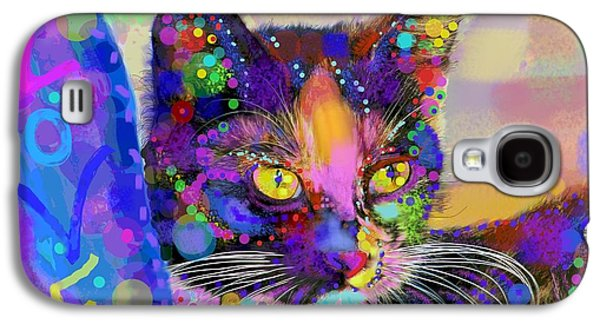 Abstract Digital Mixed Media Galaxy S4 Cases - Just love me Galaxy S4 Case by Mary Armstrong