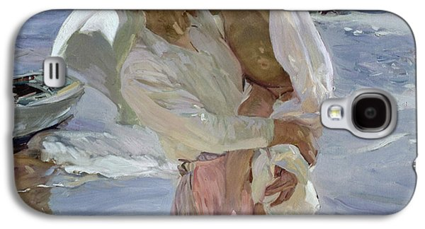 On The Beach Galaxy S4 Cases - Just Out of the Sea Galaxy S4 Case by Joaquin Sorolla y Bastida