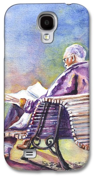 Joyful Drawings Galaxy S4 Cases - Just Passing The Time Away Galaxy S4 Case by Carol Wisniewski