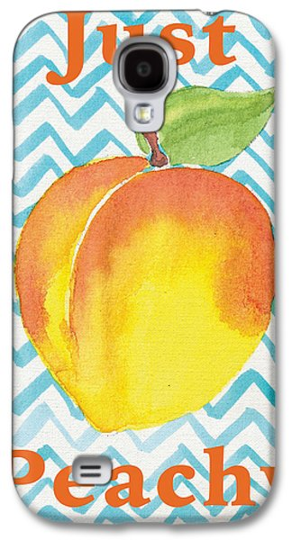 Just Peachy Painting Galaxy S4 Case by Christy Beckwith
