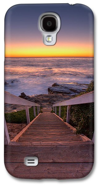 California Beach Art Galaxy S4 Cases - Just Steps to the Sea Galaxy S4 Case by Peter Tellone