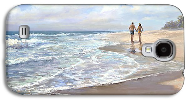 Beach Landscape Galaxy S4 Cases - Just We Two Galaxy S4 Case by Laurie Hein