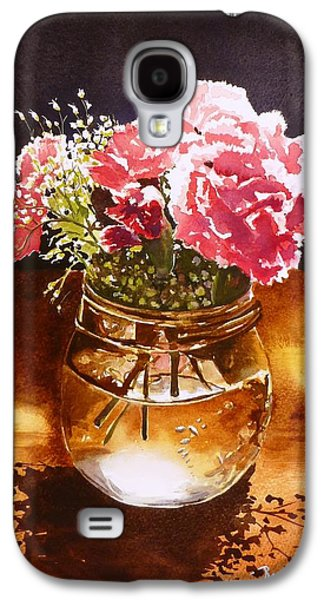 Water Jars Paintings Galaxy S4 Cases - Just What the Table Needed Galaxy S4 Case by Renata Wright