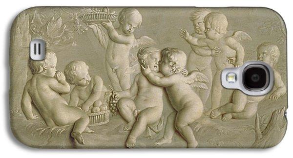 Cupid Galaxy S4 Cases - Juvenile Bacchanalia, 1783 Oil On Canvas Galaxy S4 Case by Grigoriy Ivanovich Ugryumov