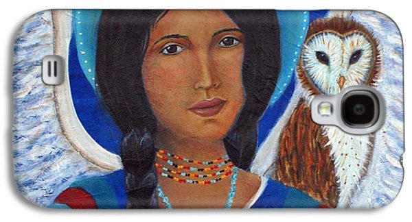 Hopi Galaxy S4 Cases - Kachina A Hopi Earthangel Galaxy S4 Case by The Art With A Heart By Charlotte Phillips