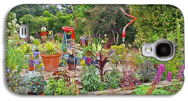 Garden Scene Galaxy S4 Cases - Kaleidoscope Garden Galaxy S4 Case by Gill Billington
