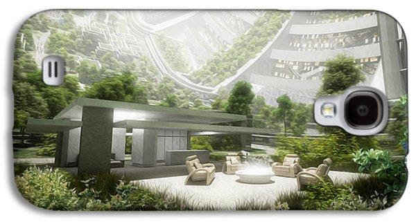 Future Mixed Media Galaxy S4 Cases - Kalpana One living room Galaxy S4 Case by Bryan Versteeg
