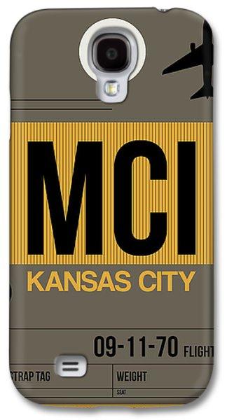 Kansas Galaxy S4 Cases - Kansas City Airport Poster 1 Galaxy S4 Case by Naxart Studio