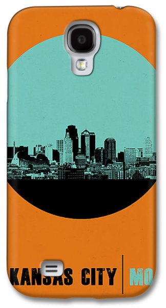 Capital Galaxy S4 Cases - Kansas City Circle Poster 1 Galaxy S4 Case by Naxart Studio
