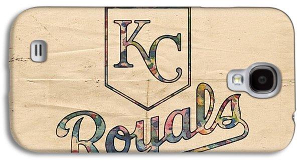 Bat Digital Art Galaxy S4 Cases - Kansas City Royals Poster Vintage Galaxy S4 Case by Florian Rodarte
