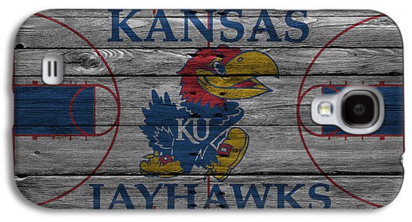 Dunk Galaxy S4 Cases - Kansas Jayhawks Galaxy S4 Case by Joe Hamilton