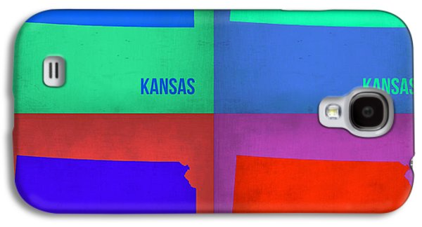 Kansas Galaxy S4 Cases - Kansas Pop Art Map 3 Galaxy S4 Case by Naxart Studio
