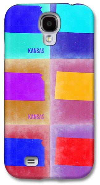 Kansas Galaxy S4 Cases - Kansas Pop Art Map 4 Galaxy S4 Case by Naxart Studio