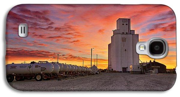 Silos Galaxy S4 Cases - Kansas Skyfire Galaxy S4 Case by Thomas Zimmerman