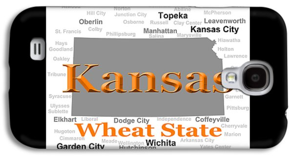 Manhatten Galaxy S4 Cases - Kansas State Pride Map Silhouette  Galaxy S4 Case by Keith Webber Jr