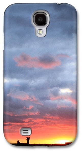 Traffic Control Galaxy S4 Cases - Kansas Sunset Galaxy S4 Case by JC Findley