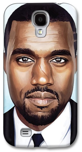 Kanye West Galaxy S4 Cases - Kanye West Artwork Galaxy S4 Case by Sheraz A