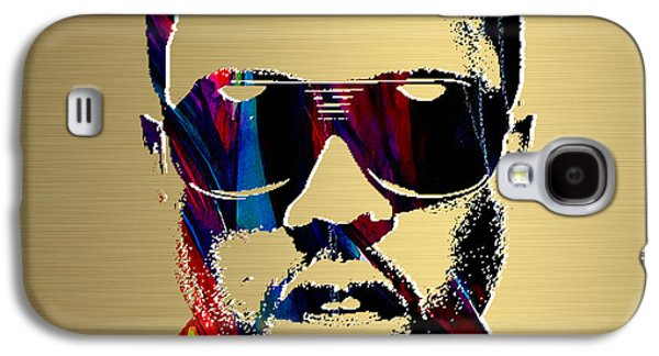 Kanye West Galaxy S4 Cases - Kanye West Gold Series Galaxy S4 Case by Marvin Blaine