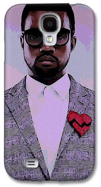 Jay Z Galaxy S4 Cases - Kanye West Poster Galaxy S4 Case by Dan Sproul