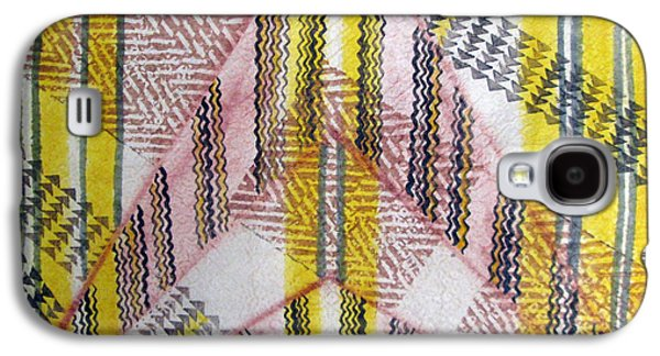 Contemporary Abstract Tapestries - Textiles Galaxy S4 Cases - Kapa de Luisa 2 Galaxy S4 Case by Dalani Tanahy