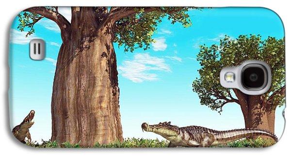 Kaprosuchus Prehistoric Crocodiles Galaxy S4 Case by Walter Myers