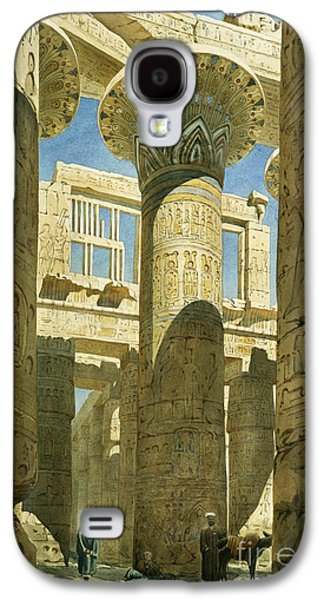 Temple Paintings Galaxy S4 Cases - Karnak Galaxy S4 Case by Richard Phene Spiers