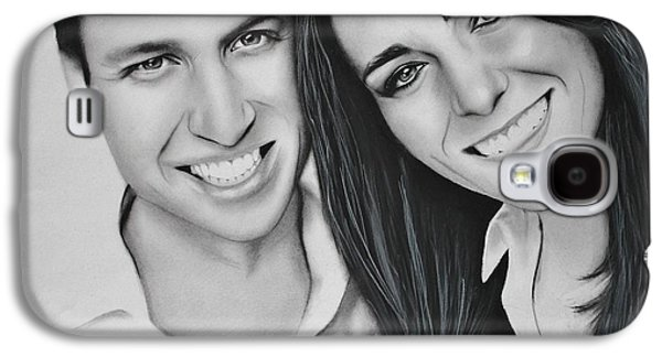 Kate Middleton Galaxy S4 Cases - Kate and William Galaxy S4 Case by Samantha Howell