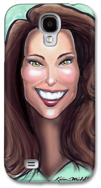 Kate Middleton Paintings Galaxy S4 Cases - Kate Middleton Galaxy S4 Case by Kevin Middleton