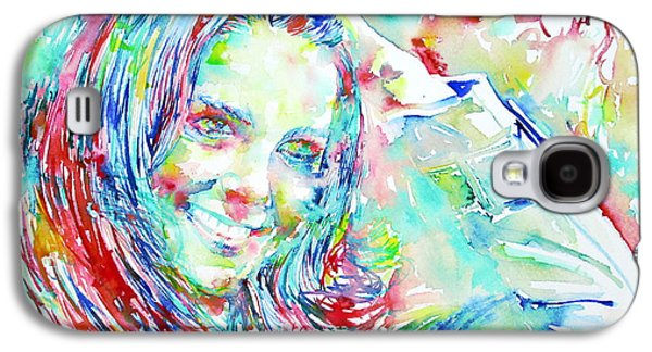 Kate Middleton Paintings Galaxy S4 Cases - Kate Middleton Portrait.1 Galaxy S4 Case by Fabrizio Cassetta