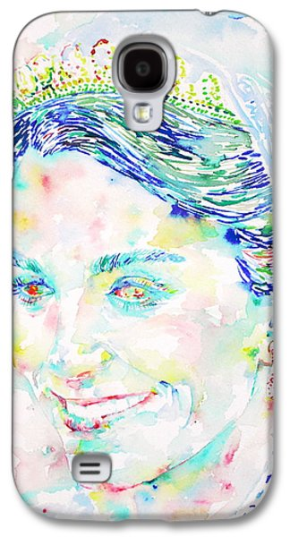 Kate Middleton Paintings Galaxy S4 Cases - Kate Middleton Portrait.2 Galaxy S4 Case by Fabrizio Cassetta