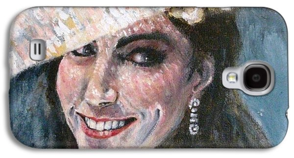 Kate Middleton Paintings Galaxy S4 Cases - Kate Middleton Galaxy S4 Case by Yvonne  Taylor