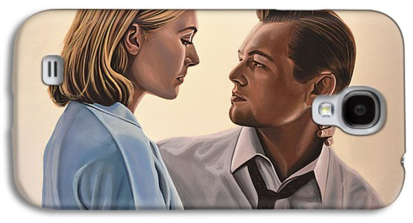 Road Paintings Galaxy S4 Cases - Kate Winslet and Leonardo DiCaprio Galaxy S4 Case by Paul  Meijering