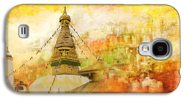 Museum Paintings Galaxy S4 Cases - Kathmandu Valley Galaxy S4 Case by Catf
