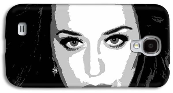 Katy Perry Galaxy S4 Cases - Katy Perry BW Warholesque Galaxy S4 Case by Anibal Diaz