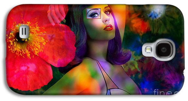 Katy Perry Galaxy S4 Cases - Katy Perry Dark Horse Painting Galaxy S4 Case by Marvin Blaine