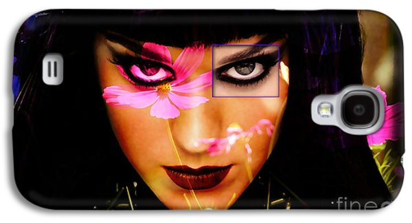Katy Perry Galaxy S4 Cases - Katy Perry Flower Galaxy S4 Case by Marvin Blaine