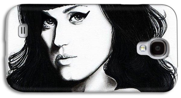 Katy Perry Galaxy S4 Cases - Katy Portrait Galaxy S4 Case by Elizabeth Moug
