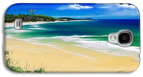 Seascape Galaxy S4 Cases - Kauai beach solitude Galaxy S4 Case by Anthony Fishburne