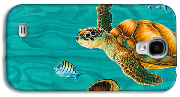 Kauila Sea Turtle Galaxy S4 Case by Emily Brantley
