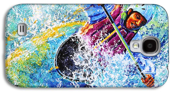 Sports Artist Galaxy S4 Cases - Kayak Crush Galaxy S4 Case by Hanne Lore Koehler