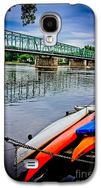 Original Art Photographs Galaxy S4 Cases - Kayaks on The Delaware Galaxy S4 Case by Colleen Kammerer