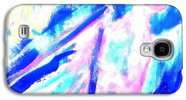 Mental Paintings Galaxy S4 Cases - Keep Silent In The Boat Galaxy S4 Case by Hilde Widerberg