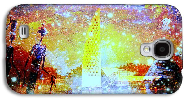 Faniart Africa America Mixed Media Galaxy S4 Cases - Keep the Slave Monument in Goree Clean Galaxy S4 Case by Fania Simon