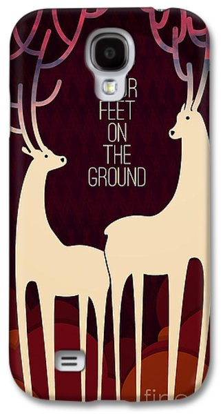 Motivation Galaxy S4 Cases - Keep your feet on the ground Galaxy S4 Case by Budi Kwan